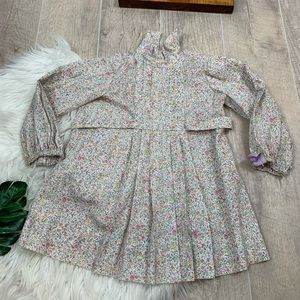 Vintage Long Sleeve Girl Floral Printed Dress 3227